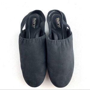 Born Black Bowe sling back Leather Flats size 8